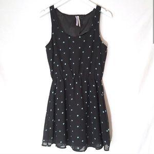 O'Neill black and blue polka dot dress